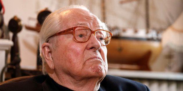 Jean-Marie Le Pen (ici en février chez lui, à Montretout) hospitalisé à cause