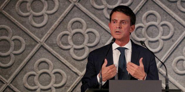 Manuel Valls a annoncé qu'il était candidat pour devenir maire de