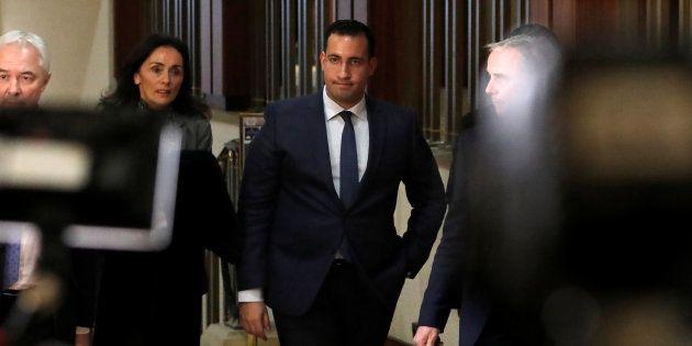 Alexandre Benalla lors de son second passage devant la Commission d'enquête