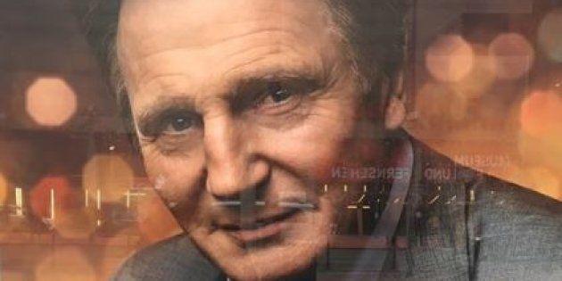 Liam Neeson apparaît dans une publicité pour la chaîne allemande ZDF (Berlin, Allemagne le 7 février