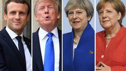 Macron, Trump, Merkel et May s'unissent pour attaquer les