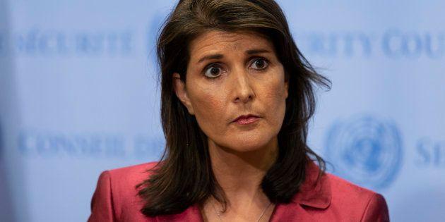 Nikki Haley, la représentante américaine à l'ONU, a une explication aux rires provoqués par