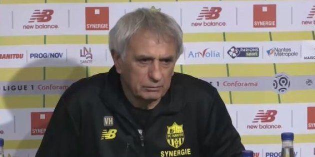 L'entraîneur de Nantes, Vahid Halilhodzic, n'a pu contenir son émotion lors de la conférence de presse...