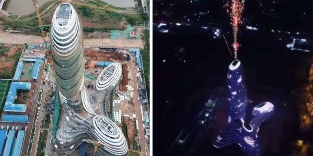 La Guangxi New Media Center dans la ville de Nanning en