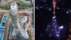 Cette nouvelle tour en Chine vous dit si vous avez l'esprit mal
