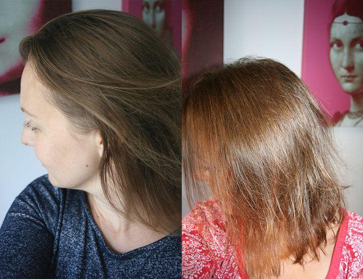 Avant-après une coloration