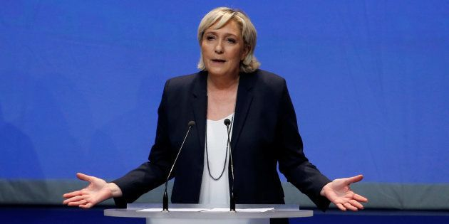 Marine Le Pen lors du Congrès du FN où elle a appelé