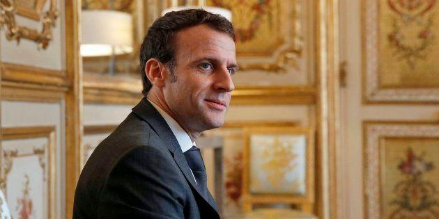 Emmanuel Macron à l'Élysée le 8 février