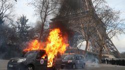 Un véhicule Sentinelle incendié lors de l'acte XIII des gilets