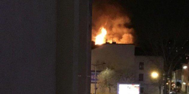 Photo de l'incendie à Lyon partagée sur