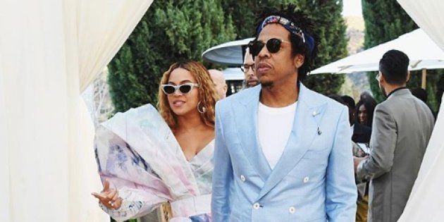 Jay-Z et Beyoncé au brunch du Roc Nation avant les