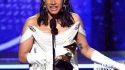 Cardi B remporte le Grammy de l'album rap et rencontre son