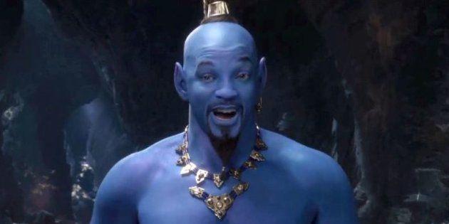 Dévoilé lors des Grammys, le nouveau teaser d'Aladdin met en scène un Génie bien trop bleu selon les