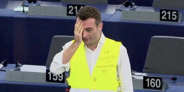 Florian Philippot au Parlement européen lundi 11