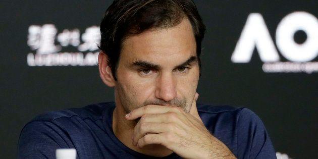 Roger Federer en conférence de presse le 20