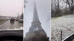 Avec ces images de Paris enneigée, difficile de croire que le printemps est dans 3