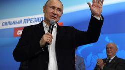 Poutine réélu à près de 77% des voix dès le 1er tour de la