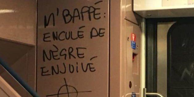 Kylian Mbappé visé par un tag raciste et antisémite dans le RER C, la SNCF va porter