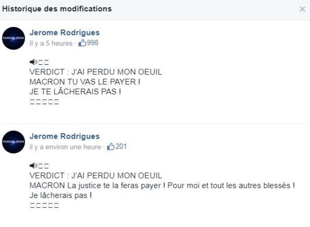 Sur Facebook Jérôme Rodriguez a promis à Emmanuel Macron qu'il allait