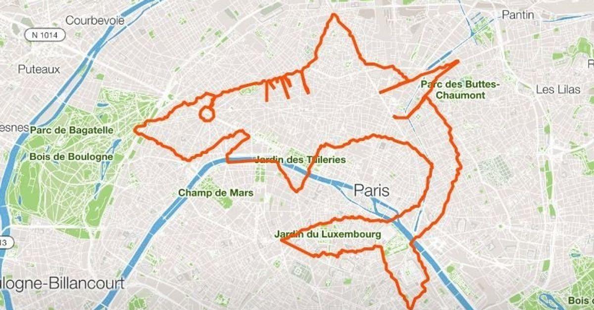 Le GPS Drawing ou comment pimper sa course à pied | Le HuffPost