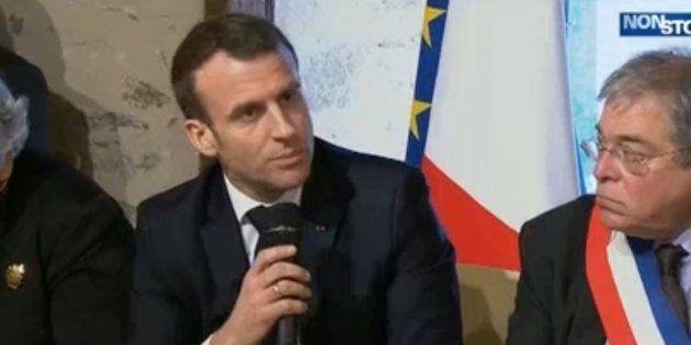 Emmanuel Macron s'est agacé après la déclaration d'André Laignel, maire PS d'Issoudun dans