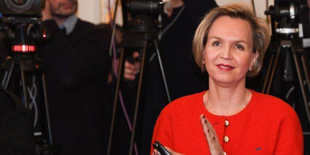 Virginie Calmels, ici ce 14 février lors de la conférence de presse d'Alain Juppé, a annoncé qu'elle...