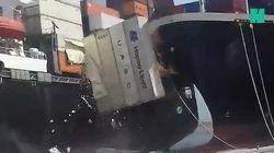 Le commandant de ce porte-conteneurs a complètement raté son arrivée au