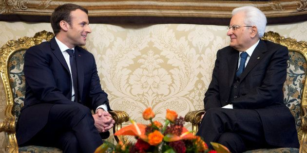 Sergio Mattarella et Emmanuel Macron à Rome le 11 janvier