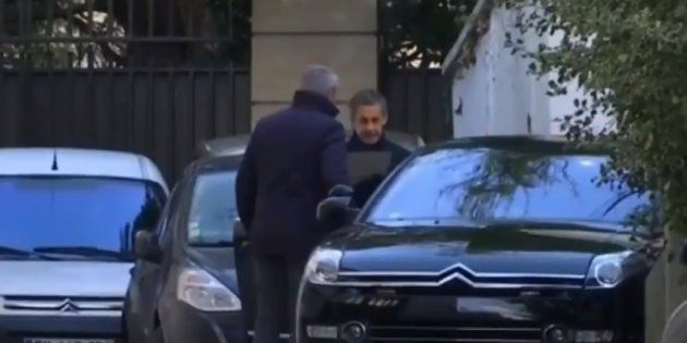 Nicolas Sarkozy est rentré chez lui à l'issue de sa garde à vue (Image prise mardi 20
