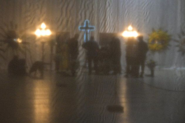 Famille et amis d'Emiliano Sala réunis au club de San Martin à Progreso, en Argentine, ce 16