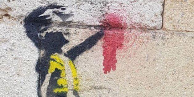 Cette fillette à la main arrachée et en gilet jaune fait forcément penser à l'œuvre du mystérieux