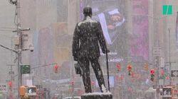 Pour l'arrivée du printemps, les images de New York, ensevelie sous la