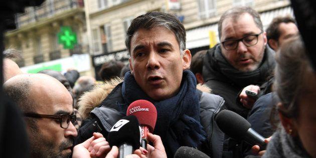 Olivier Faure à la manifestation SNCF à