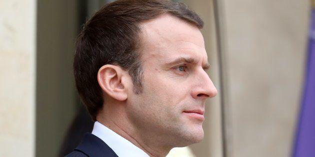Emmanuel Macron à l'Élysée le 19 février