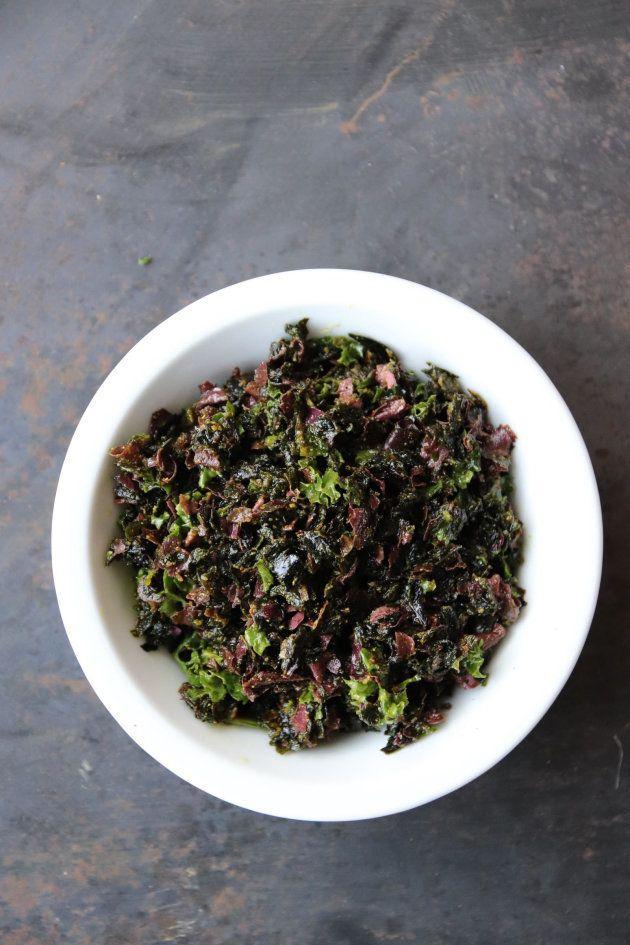 Tartare d'algues cuisiné par Maud Vatinel