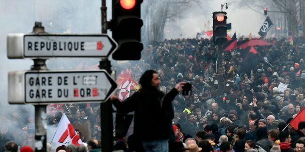 Grève de 22 mars 2018, au moins 65.000 manifestants à Paris selon la CGT, 49.000 selon la