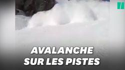 Les images de l'avalanche qui a fait un mort sur une piste de ski