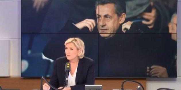 Financement lybien: Nicolas Sarkozy mieux défendu par Marine Le Pen que Laurent