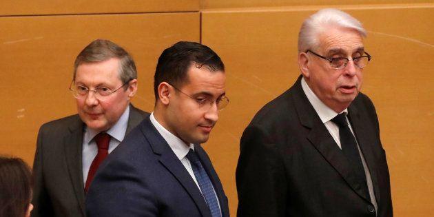 Alexandre Benalla, Jean-Pierre Sueur et Philippe Bas le 21 janvier 2019 au