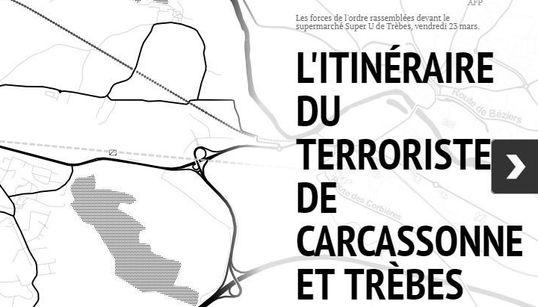 De Carcassonne au Super U de Trèbes, l'itinéraire meurtrier de Redouane