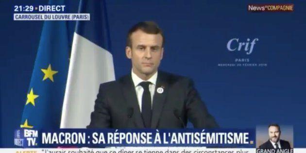 Devant les représentants de la communauté juive, Emmanuel Macron égrène les noms de victimes de