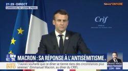 Au dîner du Crif, Macron égrène les noms de personnes tuées parce que