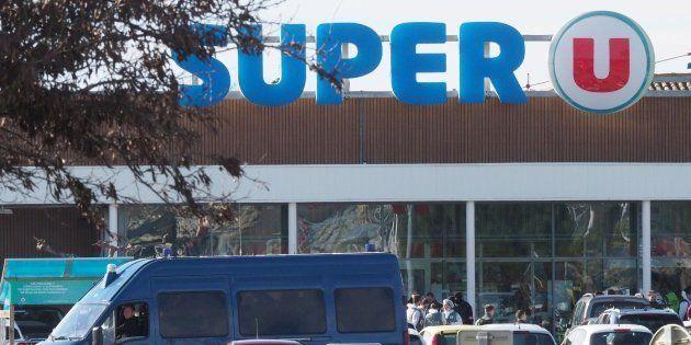Le Super U de Trèbes (Aude) cible d'une attaque terroriste ce 23 mars