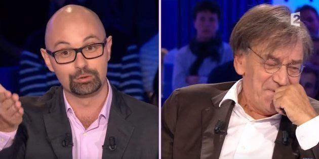 Thomas Guénolé et Alain Finkielkraut sur le plateau de