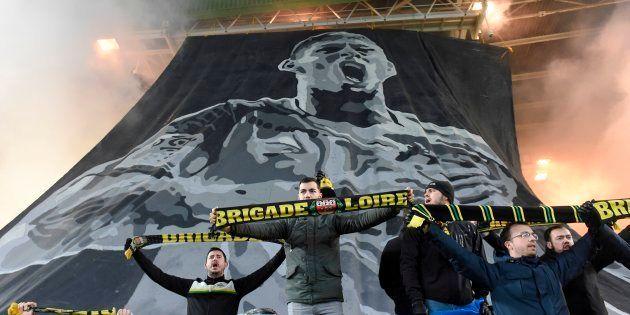 Lors du match contre Saint-Étienne, les supporters du FC Nantes avaient déployé des tifos à l'image d'Emiliano...