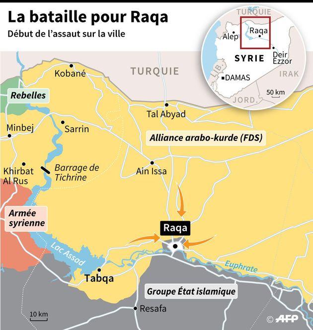 Bataille de Raqa: les forces en présence pour les combats qui viennent de débuter en