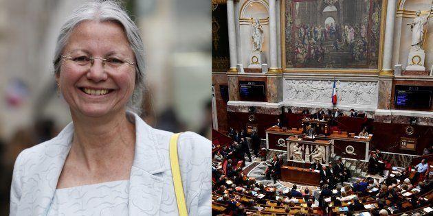 L'élue LREM Agnès Thill, dont certains députés ont demandé à plusieurs reprises l'exclusion après des...