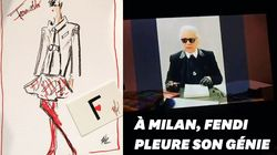 Karl Lagerfeld honoré par Fendi à la Fashion Week de