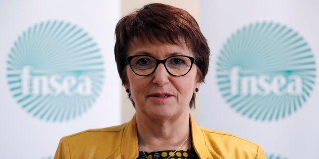 La présidente de la FNSEA Christiane Lambert à Paris le 13 avril