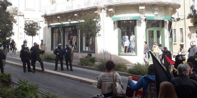 À Montpellier, face à face tendu entre antifascistes et identitaires deux jours après le coup de force...